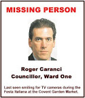 poster; Roger Caranci, missing in London, Ontario