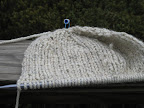 Bulky Knitted Hat in Progress