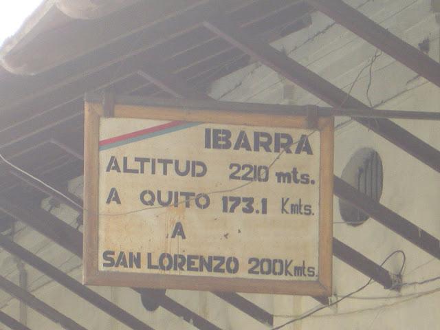 Der Bahnhof von Ibarra