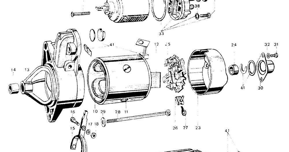 Moto Guzzi 850 LeMans: Motor de arranque.