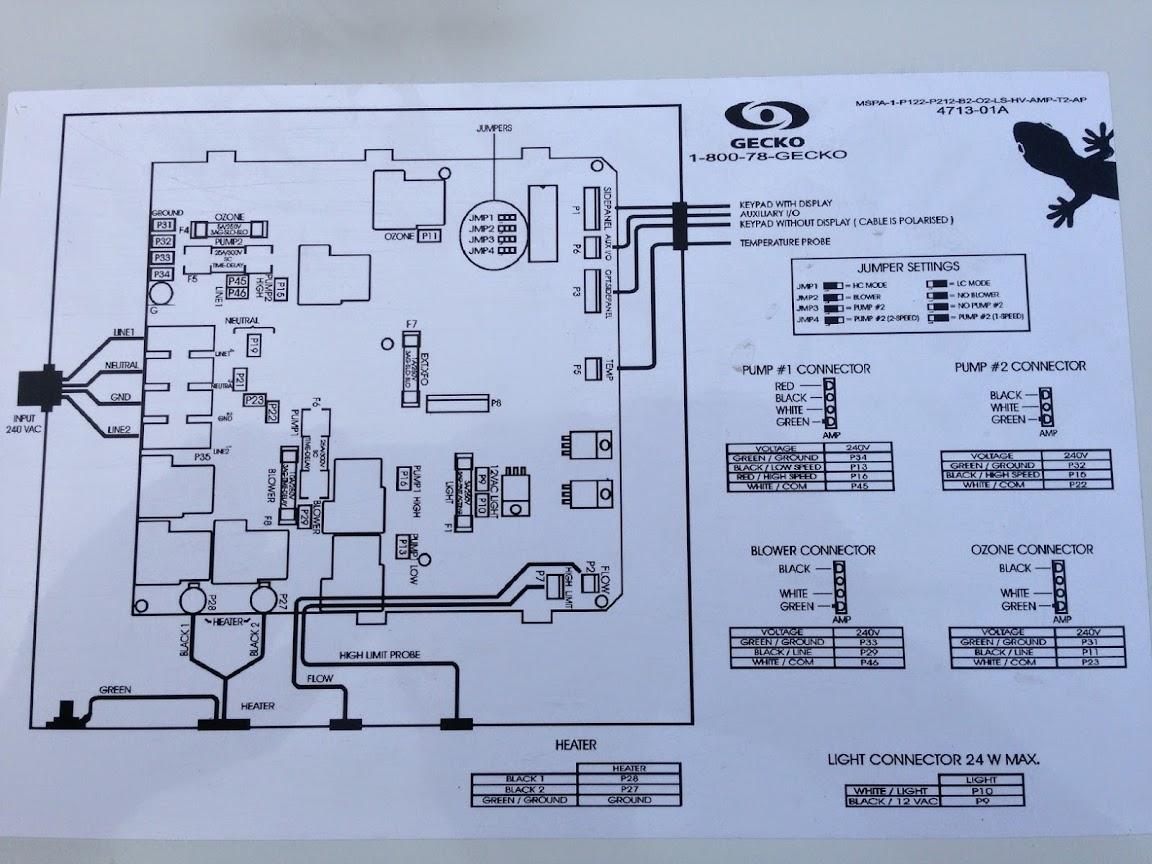 balboa spa pack wiring diagram scooter stator gecko ebay