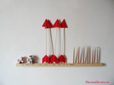 Decoración de San Valentín; flechas hechas a mano.
