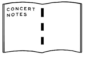 concert notes
