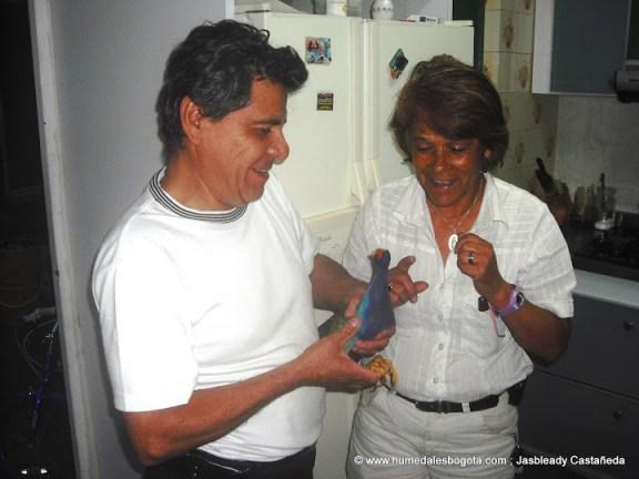 """Doña Rosalba y Don Pedro con la """"pajarita"""""""