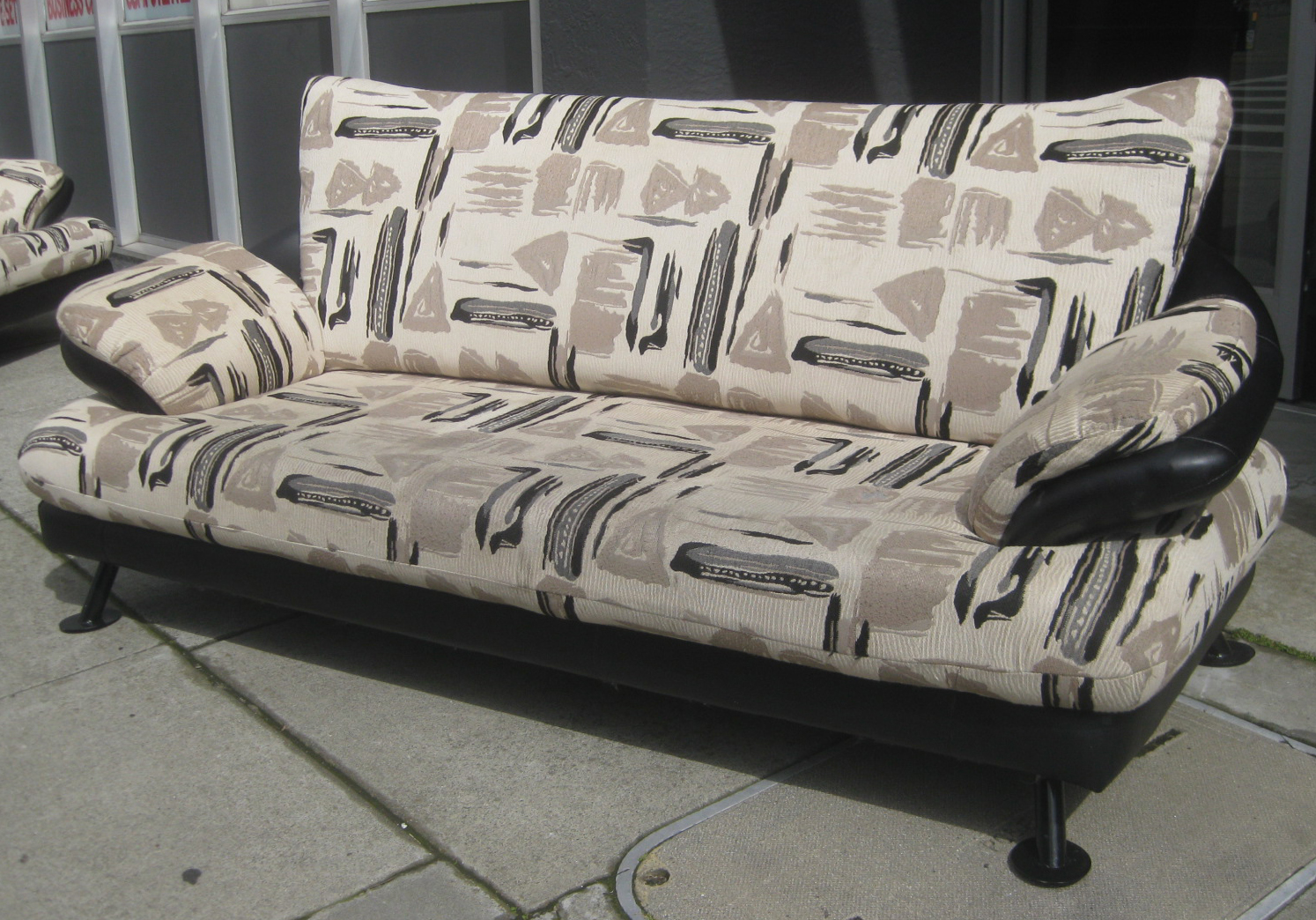 print sofa set black leather loveseat uhuru furniture and collectibles sold african