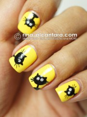 nail art black cats galore simply