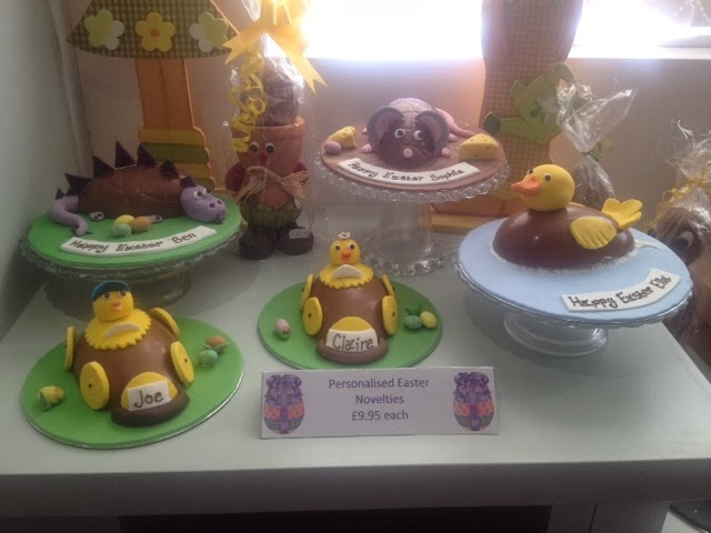 Novelty easter eggs decorated as chicks, dinosaurs, ducks and mice