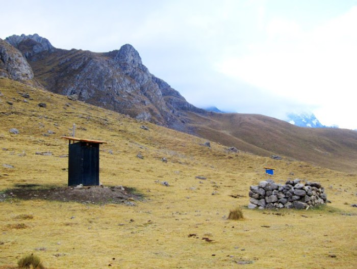 Worst toilet in the whole Huayhuash Trek