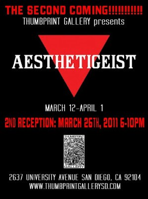 Thumbprint Gallery will host Aesthetigeist San Diego California Art Exhibit