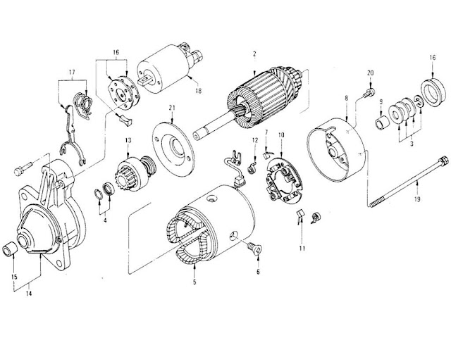 Datsun 620 Starter Motor (Automatic) (From Aug.-´73)