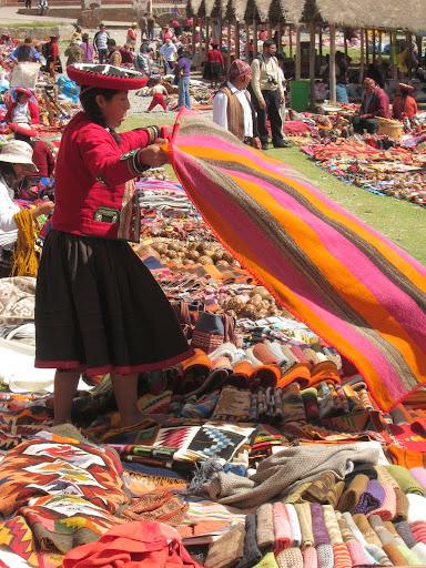 Market day in Chincero, Peru