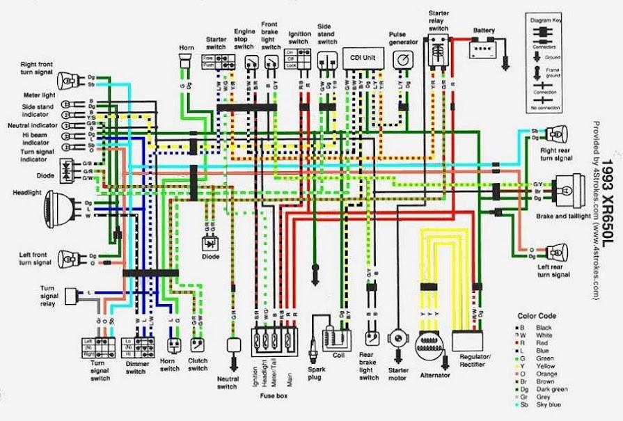 2006 xr650l wiring diagram
