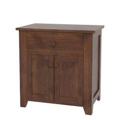 Amish Built Sofa Tables Cover Maker Makati Shaker Nightstand With Doors | Solid Wood In ...