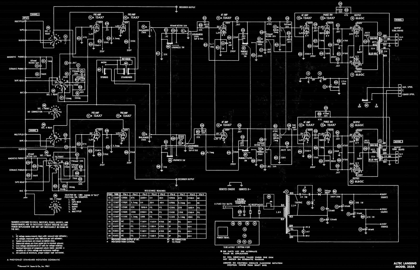 hight resolution of circuit diagram tube pin out 6l6