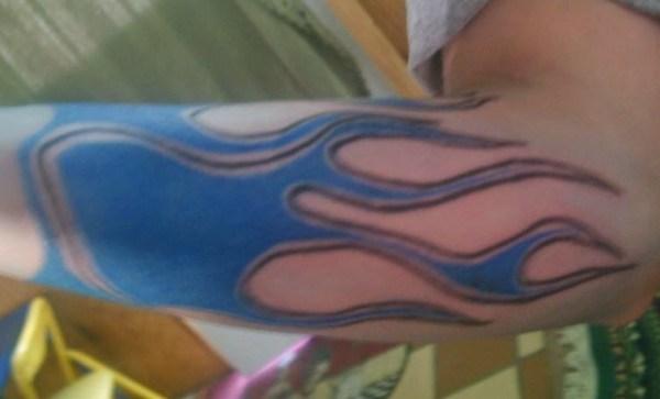 Blue Flame Tattoos