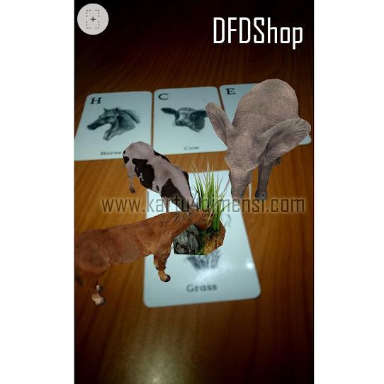 Jual 4D Card Animal  Kartu Binatang 4 Dimensi