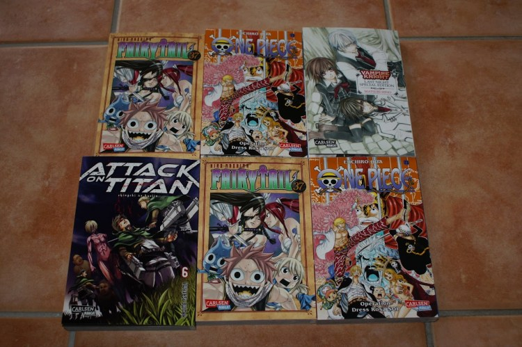 Carlsen Manga Attack on Titan Vampire Knight One Piece Fairy Tail Loot