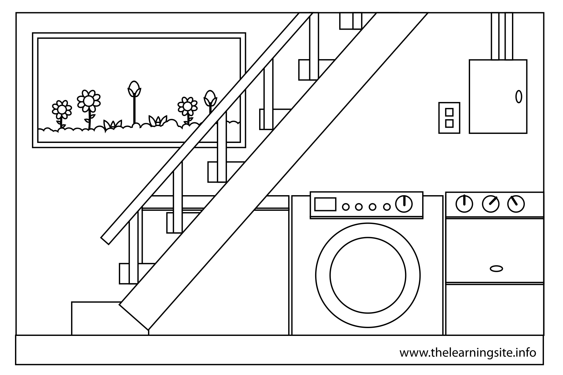 House Parts Coloring Page Sketch Coloring Page