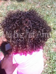 big fat afro -styled hair