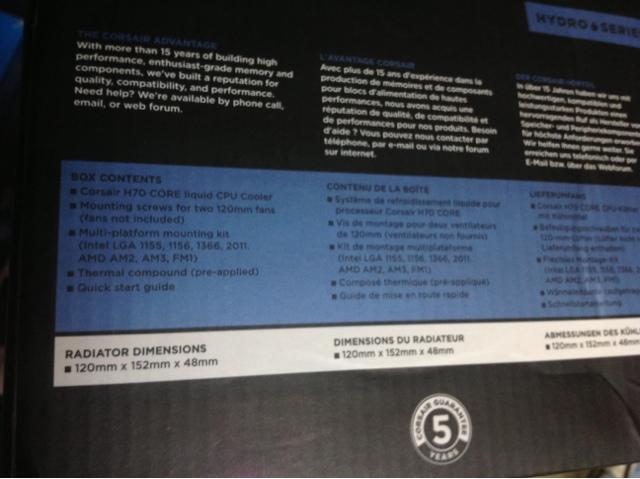 Corsair H70 Core Unboxing 11