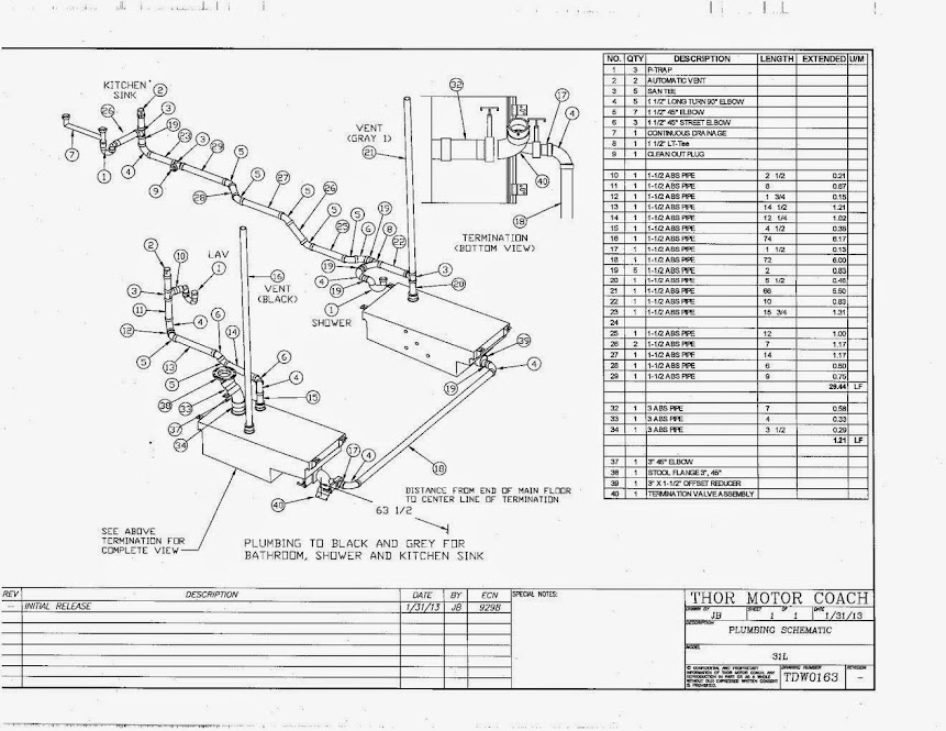 Wiring Diagrams : 1994 Fleetwood Southwind Motorhome Parts