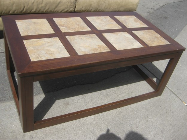 uhuru furniture & collectibles: sold - tile-top coffee table - $20