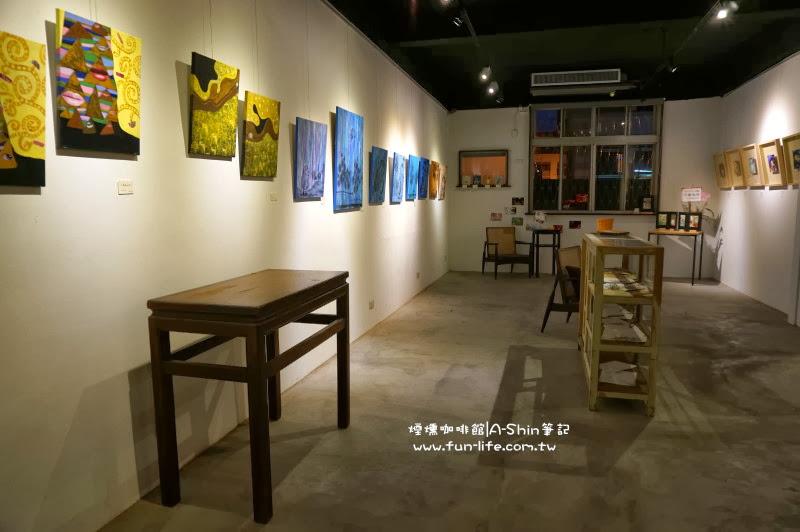 煙燻咖啡還可以當作藝文空間使用。