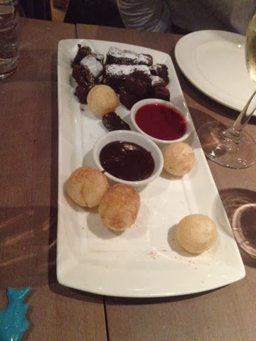Brownies, fondue and Korean dougnuts served at Dim T London