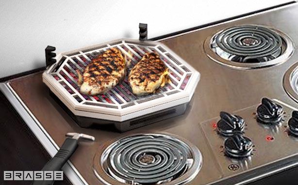 *瓦斯爐上也可以享受BBQ美味:Brassé BBQ室內無煙燒烤爐架! 3