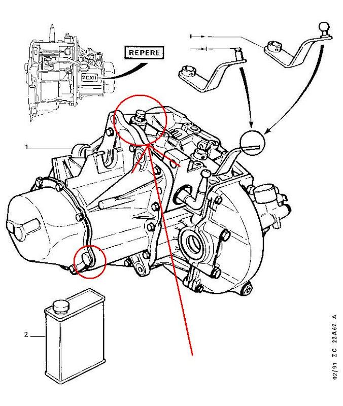 Mi16 gear box oil change