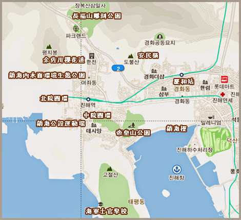 B)釜山地鐵路線圖(中韓英)