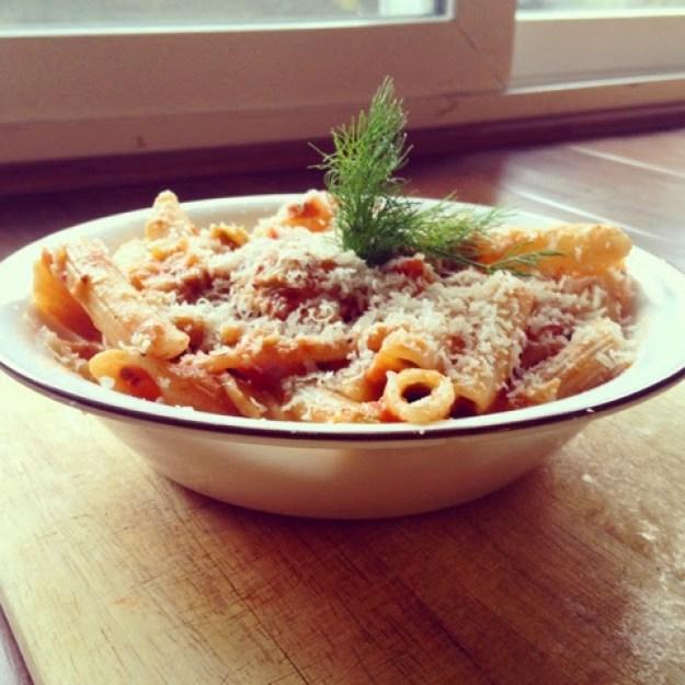 Sauteed Leek and Fennel Pasta