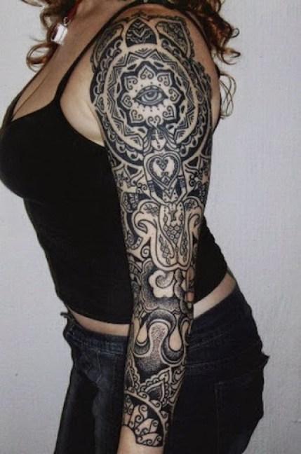 full sleeve tattoos for girls