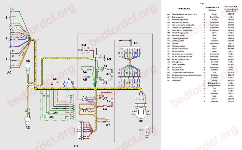 Bedford CF Org • View Topic Wiring Diagrams 1969 72 Models