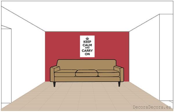 Pintar paredes según los muebles