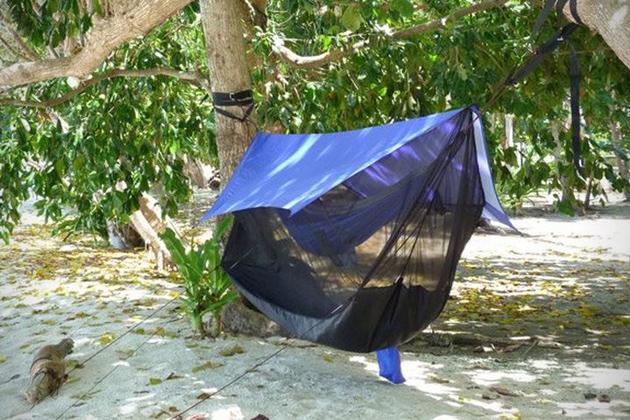 *雙人吊床帳篷:雨天也不怕地上濕冷侵襲! 3