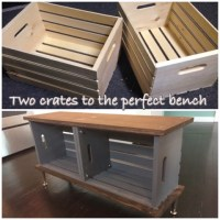 DIY Crate Bench | Home is where your Hart is