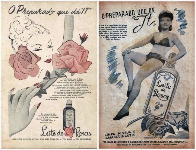 Leite de Rosas Propagandas antigas