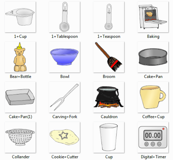 Kitchen Pictures For Classroom And Therapy Use