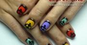 nail art tutorial pumpkin silhouettes