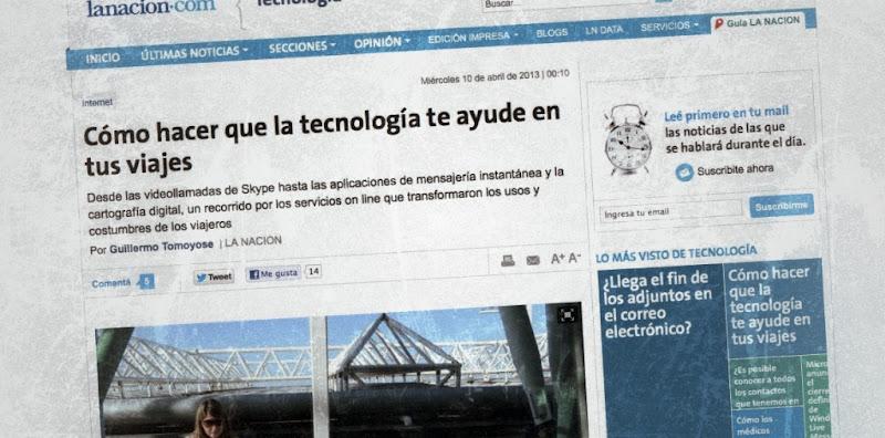 Tecnologia y viajes en La Nación