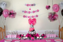 Pink and Zebra Birthday Party Ideas