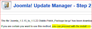 5.joomla update manager step2