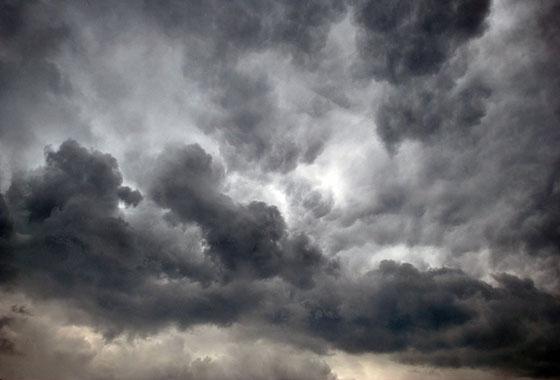céu nublado tempestade dramático