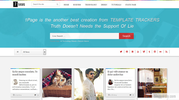 7seas Snipe Blogger template