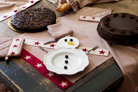 Decoración divertida para la mesa de Navidad.