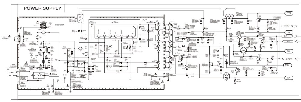 medium resolution of tv power schematic wiring library panasonic tv schematics sanyo c29lf41 crt tv circuit diagram rh xn