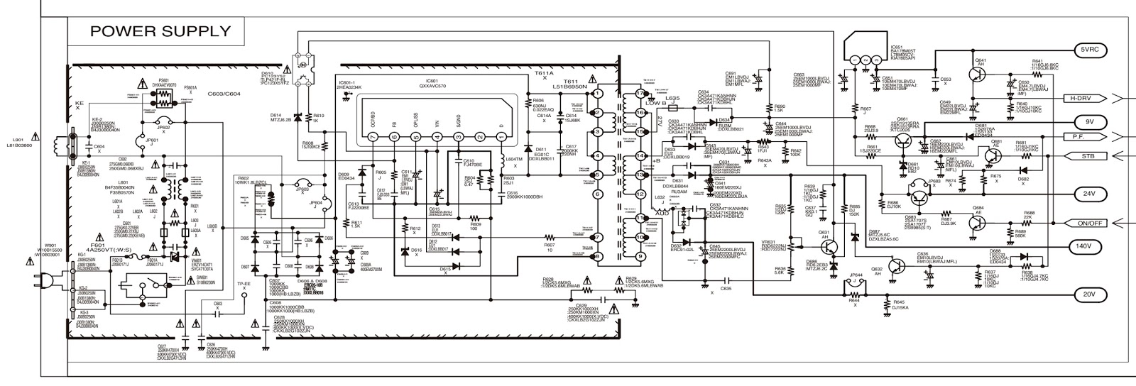hight resolution of tv power schematic wiring library panasonic tv schematics sanyo c29lf41 crt tv circuit diagram rh xn