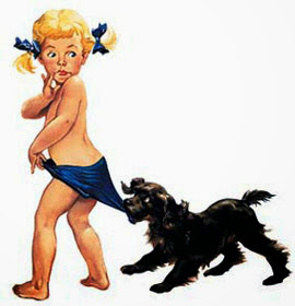 anúncio coppertone menina cachorrinho atual