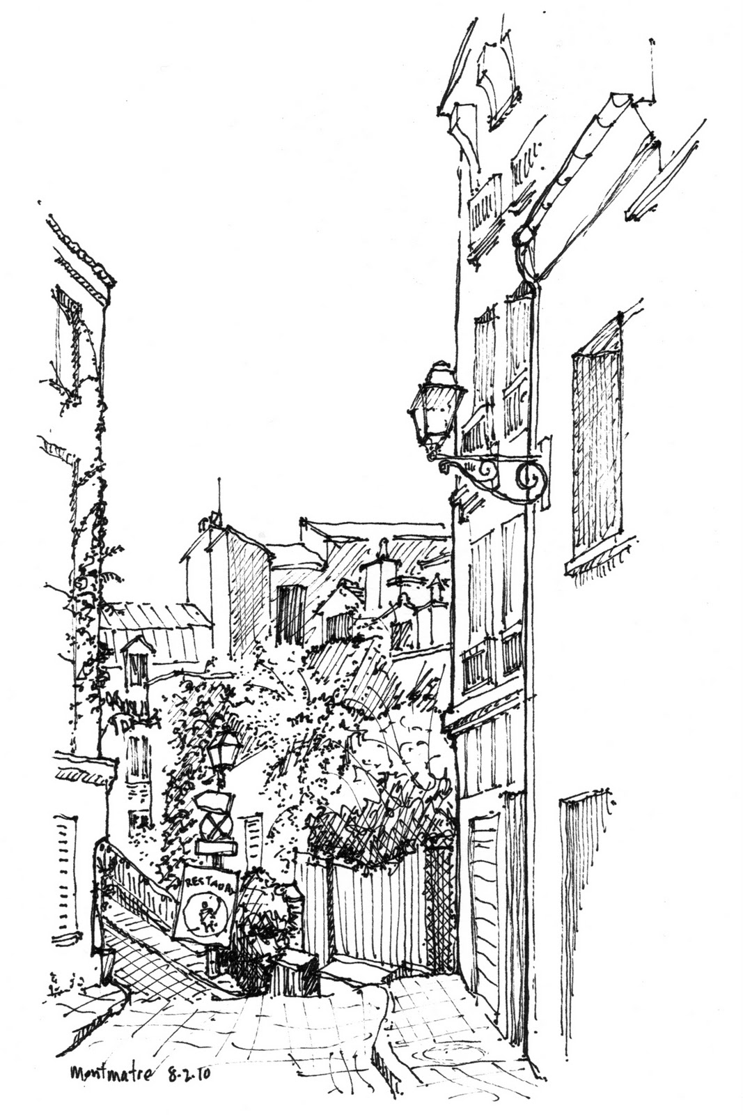 Bob Krikac Design Drawing: Some sketches from Paris & Rome